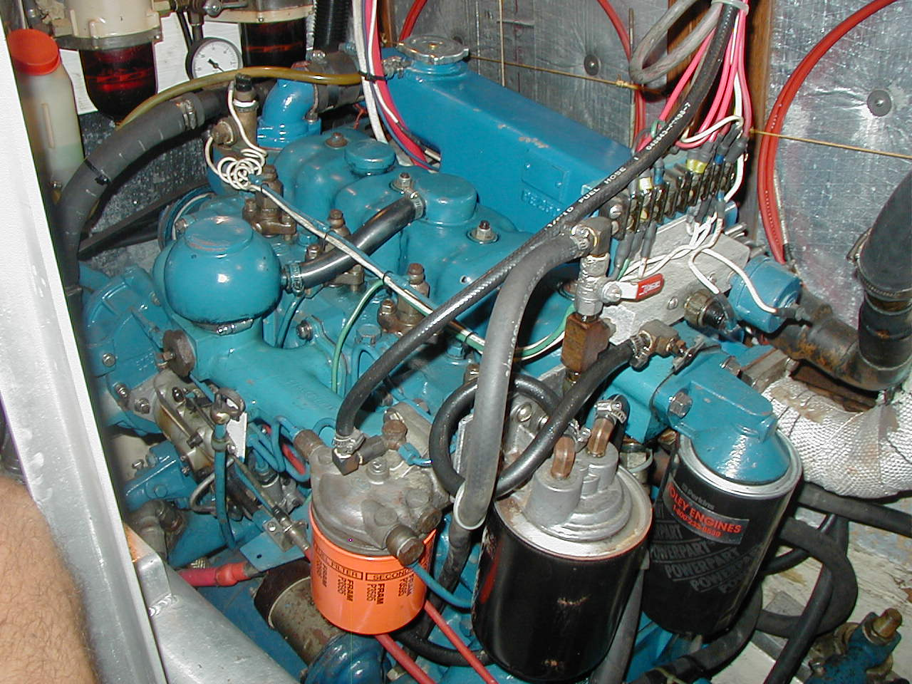 S V Soggy Paws Csy 44 Engine And Drive Train Boat Fuel Filters Spin On Filter Adapter Easy Access Electrical Connector Block Amsoil Bypass System The Oil Sensor Mounting With Sensors A